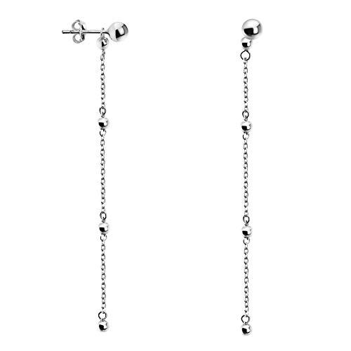 SOFIA MILANI - Damen Ohrringe 925 Silber - Ohrhänger als Kugel - 20766