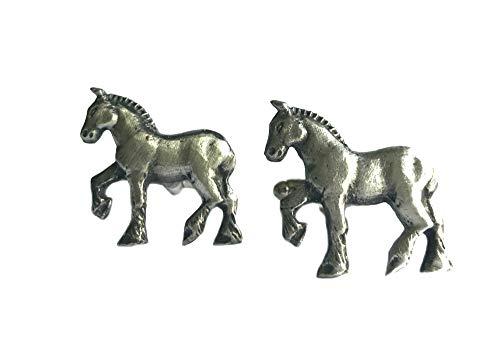 Gemelos de caballo, hechos a mano en Inglaterra, carrito de caballos