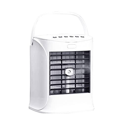XHMJ Mini acondicionador de Aire, Material ABS + PC, con Altavoz Bluetooth, Fuente de alimentación USB de bajo Nivel de Ruido, Adecuado para dormitorios/Oficina, etc, White