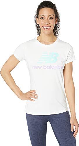 adidas Camiseta de Mujer Essentials Stacked Logo, Mujer, Camiseta, 690960, Blanco, Size 99