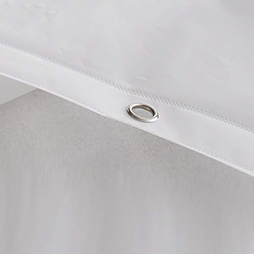 YGCL Wasserdichter Duschvorhang, Reinweiß Vorhang Bad Plain Schimmeligen Duschvorhang Toilettenvorhänge (optionale Größe), formbeständiges Bad Duschvorhang,200 * 280 cm
