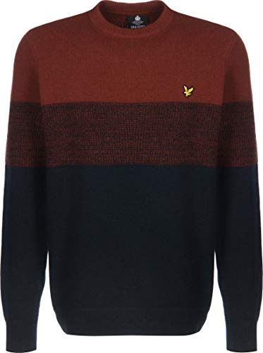 Lyle & Scott Chest Panel Knitted Jumper gebreide trui