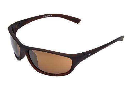 Gamswild WS6426 Sonnenbrille Sportbrille Skibrille Fahrradbrille Damen Herren Unisex | Glasfarbe: braun | grün | violett, Farbe: Braun