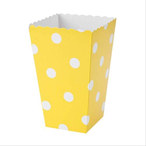Geschenkdoos BLTLYX 12 stks/partij Aankomst Kraft Traktatie Popcorn Doos Voor Bruiloft Levering Decoratie Kerst Verjaardagsfeestje Snoep Geschenkdoos 7 * 5 * 11cm hetzelfde als foto