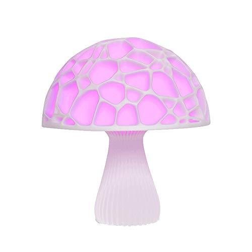 Tesysyet LED Pilz Licht Mondlicht 3D Print Mondlicht Kreative Tischlampe Nachtlicht Geburtstagsgeschenk Nachttischlampe