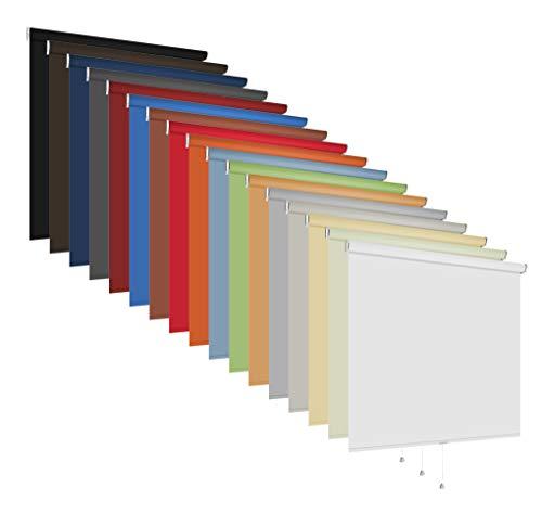 Springrollo Mittelzugrollo Schnapprollo Rollo 60-240 cm breit 150 cm hoch Stoff lichtdurchlässig blickdicht Wandmontage Deckenmontage Sonnenschutz Sichtschutz (Größe 60 x 150 cm / Farbe Grün)