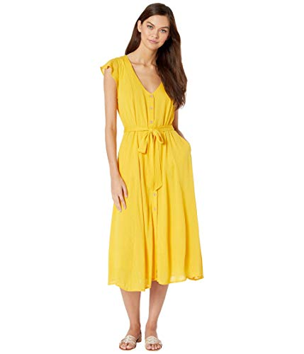 Sanctuary Eden Button Front Dress Desert Marigold MD (US 8)