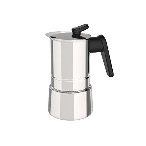 Pedrini 02CF037 Caffettiera Induzione, Acciaio Inossidabile, Steel Moka, 4 tazze
