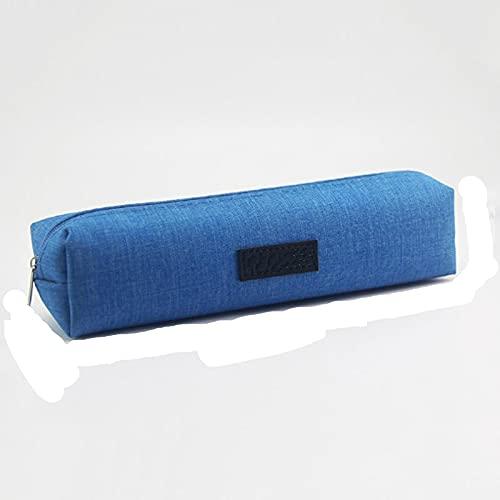 SENFEISM Tragbares Federmäppchen aus Segeltuch, einfarbig, für Schüler, Schreibwaren, Schulbedarf, Kindergeschenk