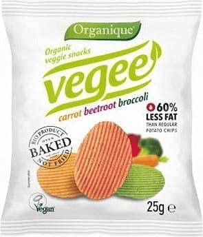 Chipsy warzywne Vegee bezglutenowe BIO 25 g Organique
