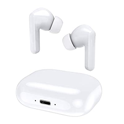Wireless Headphones, LETSCOM Bluetoooth 5.0 Stereo Earphones True Wireless Earbuds in-Ear, IPX5 Waterproof Sport Headphones with Mic Touch Control 28 Hours USB-C Mini Charging Case from LETSCOM