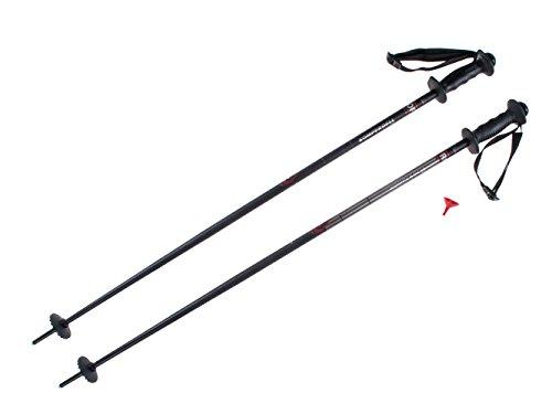 Komperdell 1449402-02 fixlänge Skistöcke Alpine Schnapsstock Grey Black - 110 cm