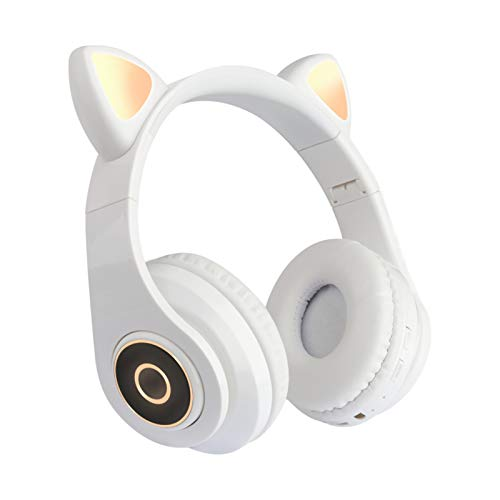 Lilon Wireless Bluetooth Over Ear Headphones for Cats with Foldable Volume Control with LED Light