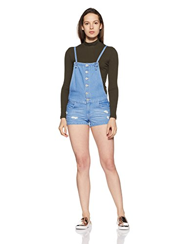 ONLY Damen onlKIMBER Short DNM Overall Box AKM Latzhose, Blau (Medium Blue Denim), 38