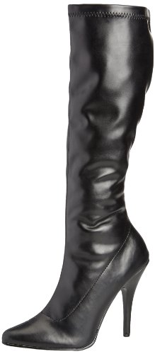 Pleaser SEDUCE-2000 Damen Stiefel, Gr. 45 ( 12 UK), Schwarz (Blk str puUK)
