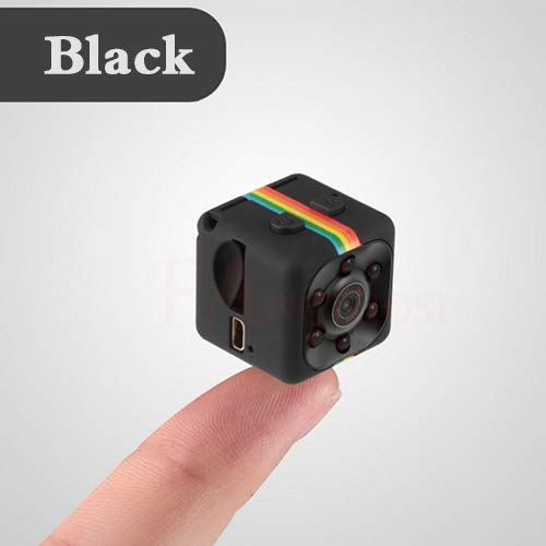 XUEYE Mini-Kamera SQ11 HD 1080P Camcorder Sport Mini-DV-Videorecorder Spionagekameras Mit Nachtsicht- Und Bewegungserkennungs-Überwachungskamera,Schwarz