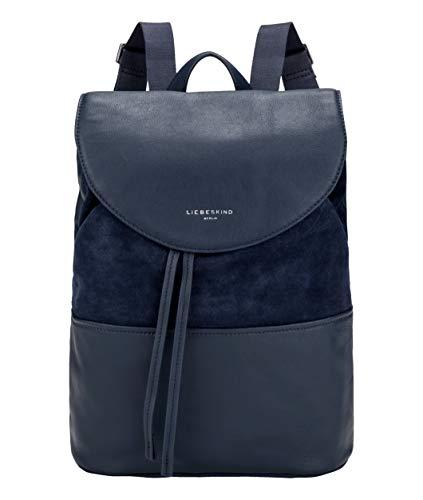 Liebeskind Berlin Damen Upsidedown Suede - Backpack Medium Rucksackhandtasche, Blau (Mood Indigo), 15x50x50 cm