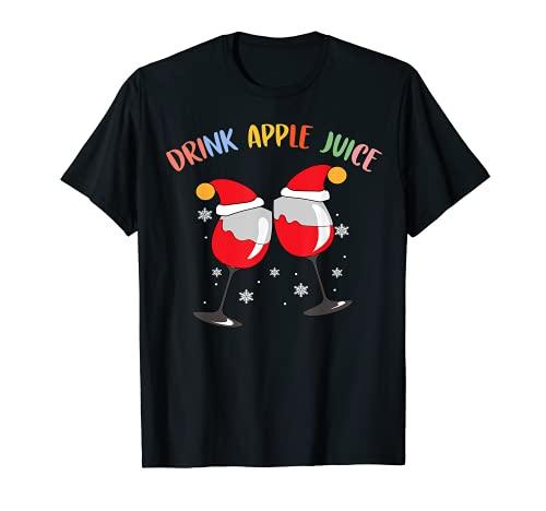 bebida jugo de manzana camiseta y divertido regalo de Navidad saludable Camiseta