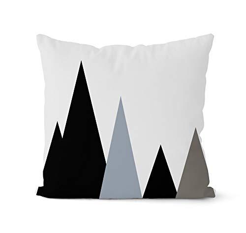 PPMP Fodera per Cuscino Nordico Blu e Grigio Fodera per Cuscino Geometrica Cuscino Decorativo Decorazioni per la casa Fodera per Cuscino A6 45x45cm
