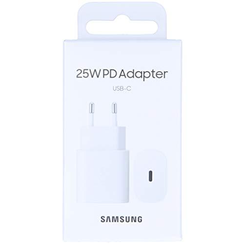 SAMSUNG Caricabatterie rapido da 25 W, Porta USB di Tipo C (Senza Cavo).