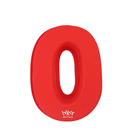 Molde de silicona para tartas de Baker Boutique con número 0 grande para cumpleaños y aniversario de boda, tamaño grande de 10 pulgadas (0)