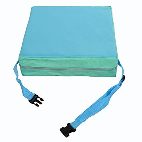 Dosige Kinder Sitzkissen Kunstleder Baby Sitzerhöhung Stuhl Tragbar Verstellbar Zerlegbar Sitzerhöhungen Kleinkinder Esszimmerstuhl ErhöHen Pad 31.5 * 31.5 * 8cm Blau
