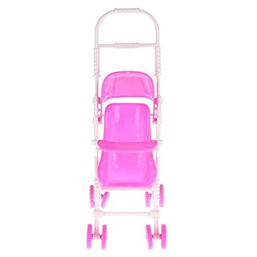 prettygood7 Baby Buggy Kinderwagen Kinderwagen Kinderzimmer Spielzeug für Barbie Puppe