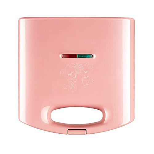 Máquina de sándwich máquina de desayuno tostadora de calefacción automática de doble cara para el hogar horno tostador Mini sartén pequeña-Rosa