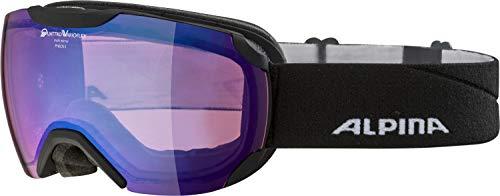 ALPINA Unisex - Erwachsene, PHEOS S QVM Skibrille, black matt, One size