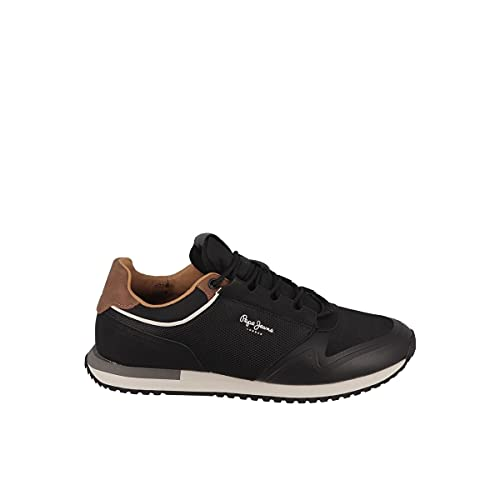 Pepe Jeans London Herren Tour URBAN Sneaker, 999BLACK, 41 EU