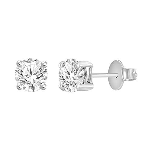 Pendientes de solitario de diamantes - Certificado IGI cerca de medio quilate en total de diamantes - Pendientes para mujer