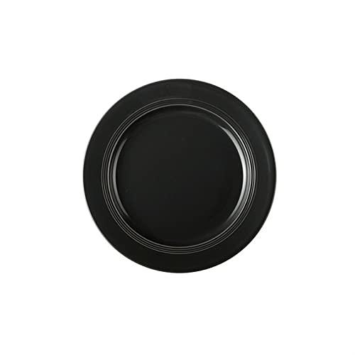 SASCD Placa de cerámica Gris nórdica Conjunto de Platos y Platos Simples para el hogar y Platos ecológicos amistosos vajillas Cena de arroz Accesorios de Cocina (Color : Black 10 Inch Plate)