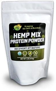 Elite Hemp Protein Mix 16 oz , + Chlorella & Spirulina , Certified Organic