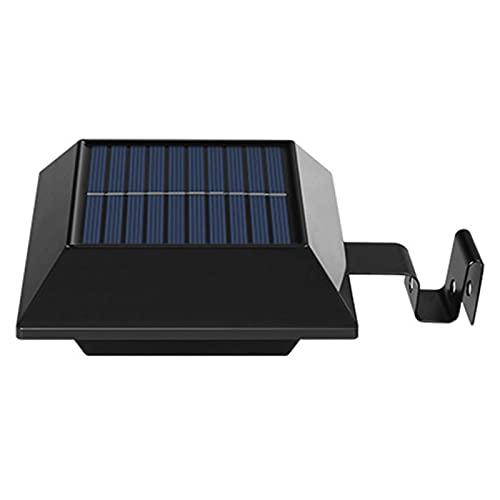 CLLX Lámpara Solar LED para Canalón, Impermeable Lámpara Solar, 12 ledes, Encendido y Apagado Automático, para Exteriores, Garaje,Patio,Negro,White Light