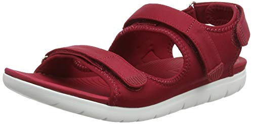 FitFlop Womens Neoflex Back Strap Sandal Shoes, Royal Red, US 8