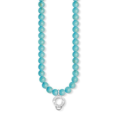 Thomas Sabo Women necklace X0238-404-17 925 Sterling Silver Simulated Turquoise Silver-coloured, Turquoise