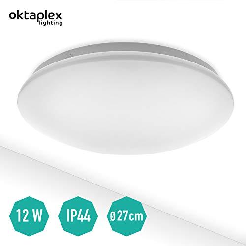 Deckenleuchte LED Como 12W IP44 weiß 980lm | Neutralweiß 4000K | Deckenlampe rund Bad Flur Treppenhaus WC 27 cm
