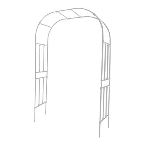 Creative LDF Soporte De Flores De Metal con Arco De Jardín De 2,4 M, Arcos Y Arcos De Jardín Fuertes para Trepar Plantas, Arcos De Decoración De Bodas