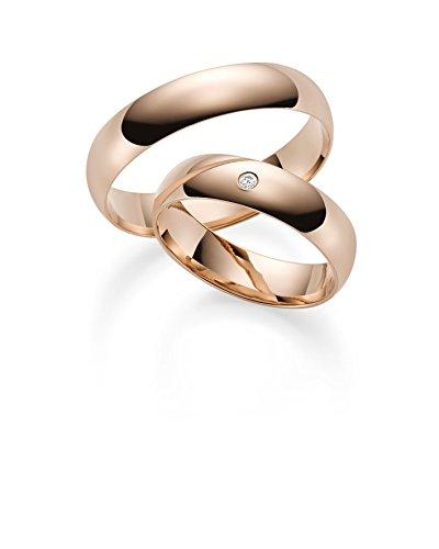 333 GOLD Rotgold Trauringe Paarpreis - Rubin Juwelier- inkl Gravur und Stein