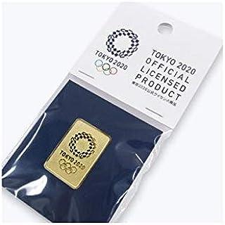 東京 2020 オリンピック 組市松紋 エンブレム 四角 エンボス ピンバッジ ゴールド