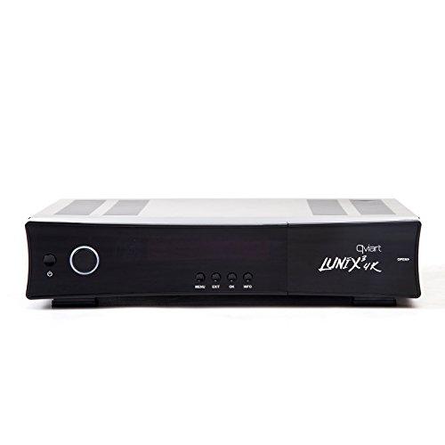 QVIART Lunix3 4K Receptor Satélite Linux E2 tuner DUAL/TWIN SAT FBC DVB-S2 4K UHD con Common Interface (CI)