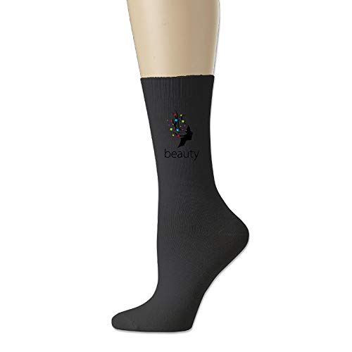 AiguanBeauty Hair Soft Walking Crew Socks Black