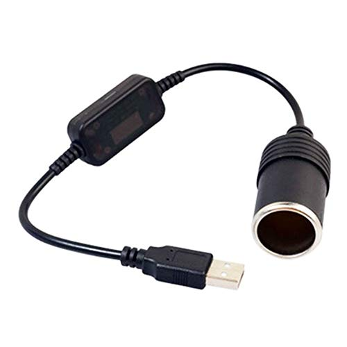 N\A Auto Leichter Konverter-Kabel-Adapter for DVR Auto-Ladegerät Elektronik Auto-Zubehör 5V 2A USB-Stecker auf 12V Auto-Zigarettenanzünder qualitätssicherung (Color Name : Black)