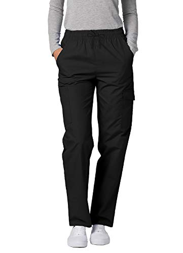 Adar Universal Damen Pflegebekleidung - lockere Cargo Hose - 506 - Black - L