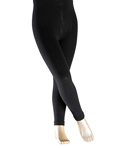 FALKE Kinder Leggings Active Warm, Wollmischung, 1 Stück, Schwarz (Black 3000), 110-116