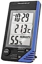 دماسنج قابل ردیابی Digi-Sense AO-90080-06 Digi-Sense با ساعت ، مانیتور رطوبت و کالیبراسیون