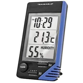 Traceable Thermometer with Clock, Humidity Monitor, and Calibration