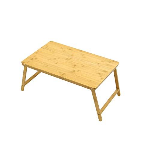 DBL Table pliante, Table pour ordinateur portable, Table de nuit, Bureau, Table à manger, Bureau, Multi-fonction, Canapé, Extérieur, Terrasse, Bambou, Poids 50KG Table pliable
