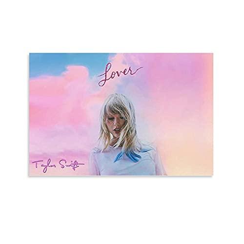 Taylor Swift Album Lover - Póster de lienzo para pared (30 x 45 cm)