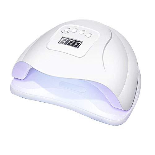 Lámpara de uñas de Gel Shijian, luz UV LED de 110W Luz de curado de polaco con 4 temporizadores presets, sensor automático, pantalla LCD, bajo calor para manicura/pedicura, hogar y salón